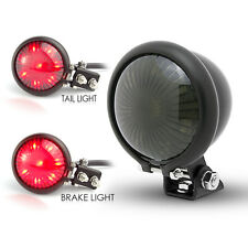 Matt Black LED Stop Taillight Retro Vintage Project Custom Motorcycle Motorbike