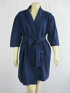 Autograph-Sleep-Ladies-Dressing-Gown-Robe-size-Small-Medium-Colour-Navy-Blue