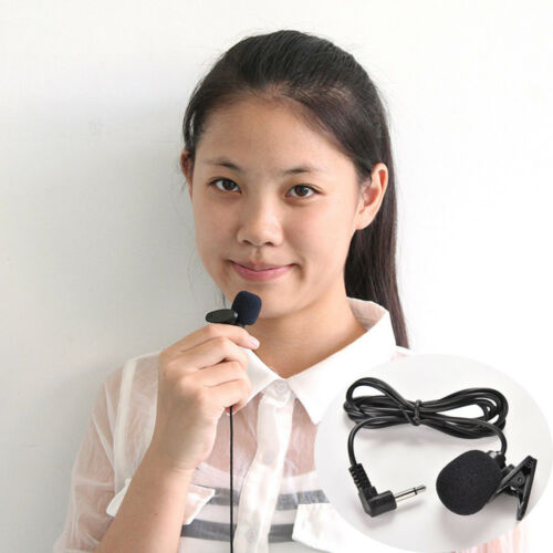 3.5mm Studio Speech Mini Microphone Mic Clip On Lapel for PC Desktop Notebook