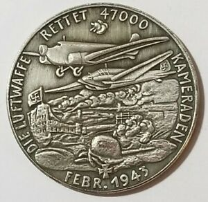 WWI WWII German Ghetto military coin Mark 5 medallion 1943