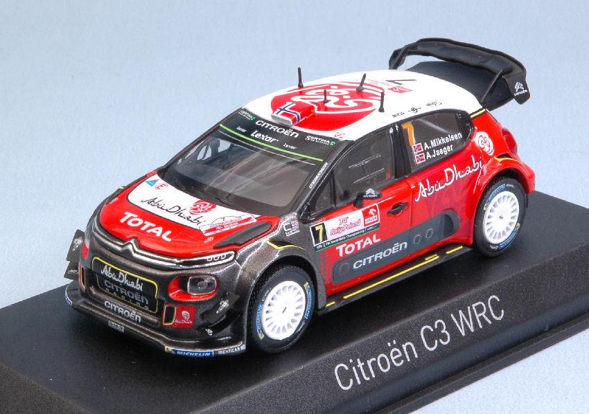 Citroen C3 Wrc  7 9th Poland Rally 2017 A. Mikkelsen   A. Jaeger 1 43 Model