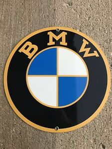 Bmw Motorcycle Retro Style Metal Garage Sign Reproduction