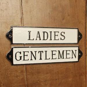 Gents Toilet Door Sign Antique Vintage