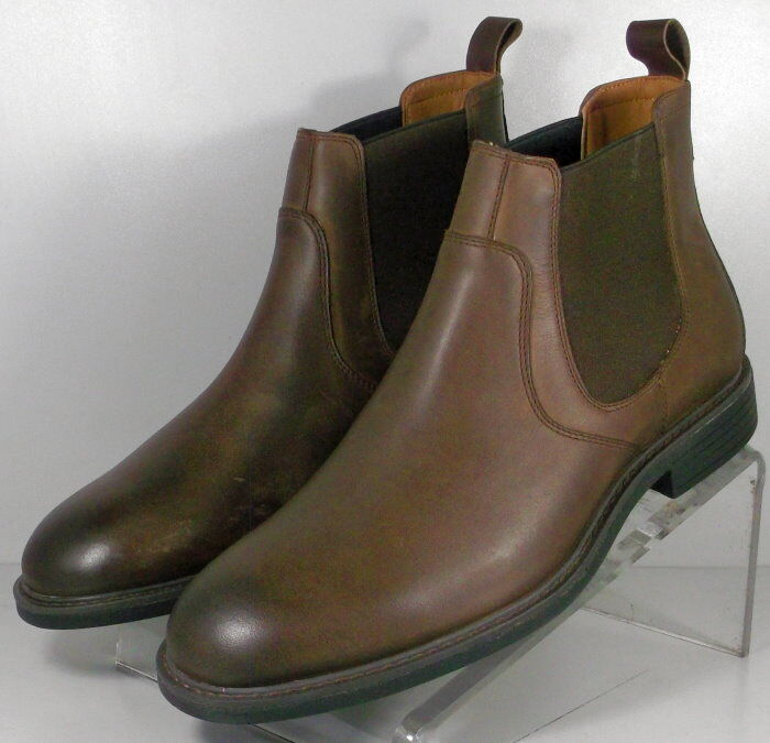 203966 MSBT50 Men's shoes Size 10 M Brown Leather Slip On Johnston & Murphy
