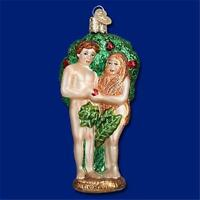 Adam And Eve Garden Of Eden Bible Theme Old World Christmas Glass Ornament 10210