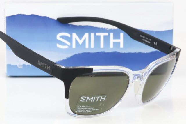 2cd7c42e0ae NEW SMITH FOUNDER CHROMAPOP SUNGLASSES Crystal Black Block   Polarized Gray  lens