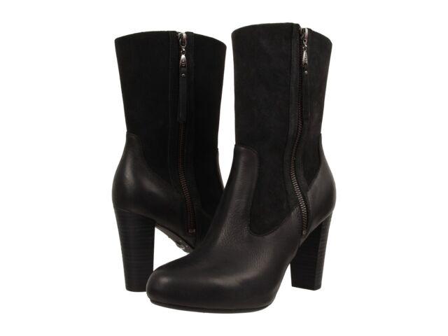 2e0e34e52dd9 Buy Women's UGG Australia Carlone Black Leather BOOTS Size 7 online ...