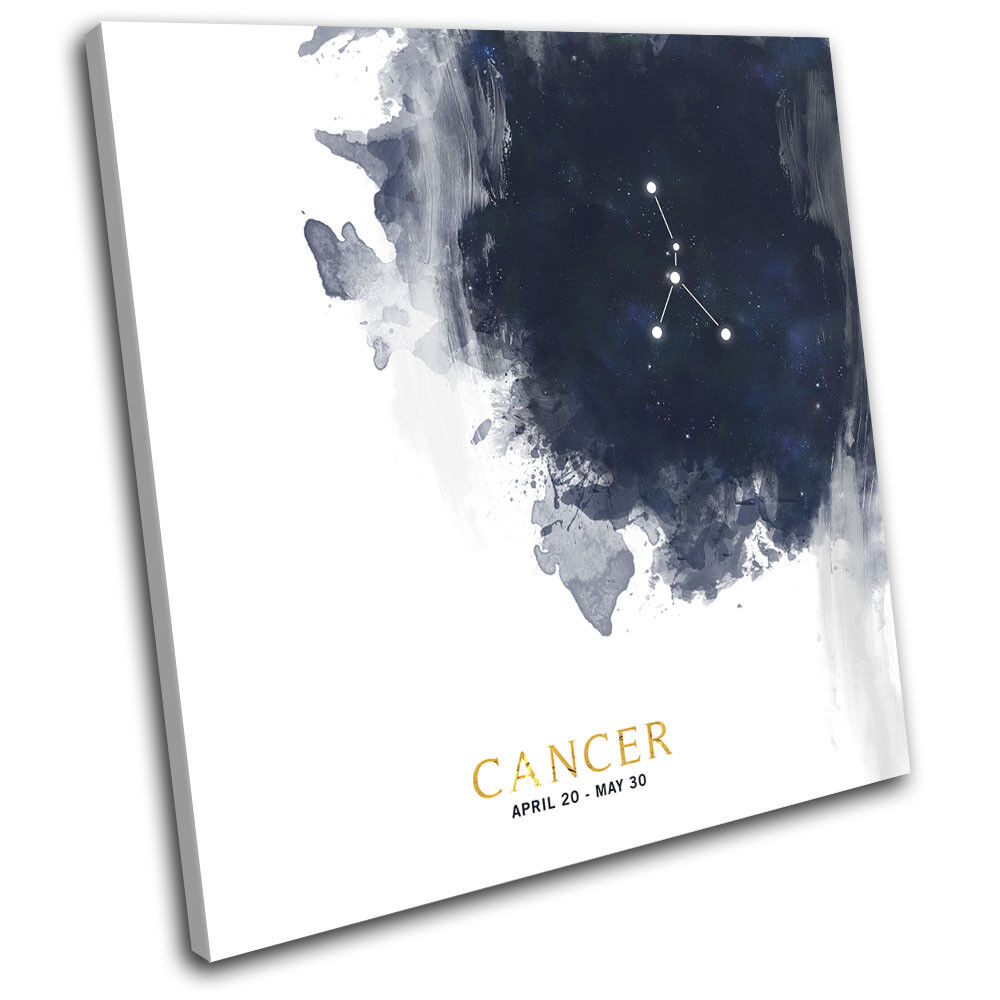 Cancer Zodiac Constellation Starsign Starsign Starsign SINGLE TELA parete arte foto stampa 442e6e