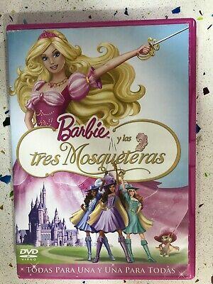 Barbie Y Las Tres Mosqueteras Dvd Clasico Espanol Ingles Portugues Am Ebay