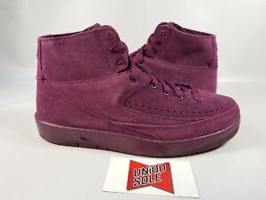 cdc7eee4155c53 Nike Air Jordan 2 Decon BORDEAUX SUEDE PURPLE DESCONTRUCTED 897521 ...