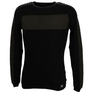 Pull fin Paname brothers Paname 017a blk anth pull Noir 90641 - Neuf