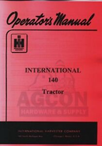 international harvester farmall 140 tractor owner operators manual rh ebay ie farmall 140 service manual pdf farmall 140 manual ebay