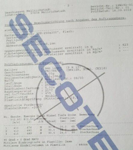 chaleco antibalas Secotec-SK-depósito F antibalas chaleco chaleco disparo 75c nuevo