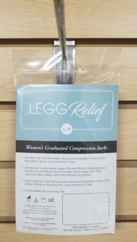 Womens Knee High Microfiber  Socks 8-15 mmhg compression 1 pair pack