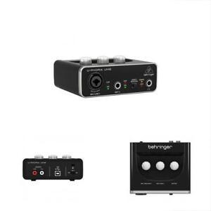 2X2-Usb-Audio-Interface-Behringer-U-Phoria-Audiophile-UM2-MIC-Preamp-Phoria-MIDI