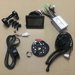Ebike-24V-36V-250W-KT-Controller-Kit-LCD3-Display-Throttle-Brake-Levers-8PAS