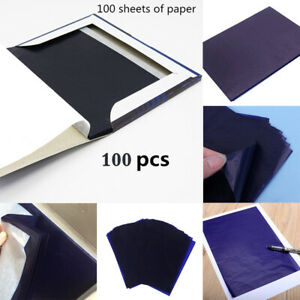 100-Blaetter-Pauspapier-Transferpapier-Kohlepapier-DIN-A5-Schreibmaschine-Blau