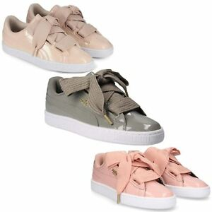 detailed pictures 65f0b 84bb9 ... Puma-Basket-c-ur-Patent-Chaussures-Femme-Baskets-