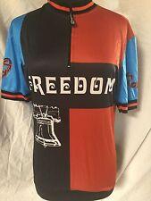 "Forza Cycling Bike Race Jersey Shirt ""FREEDOM"" Liberty Bell Men's Medium"
