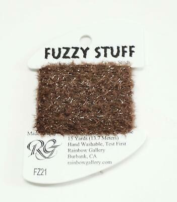 FUZZY STUFF WHITE Stitching Fiber 15 Yards Needlepoint Thread by Rainbow Gallery