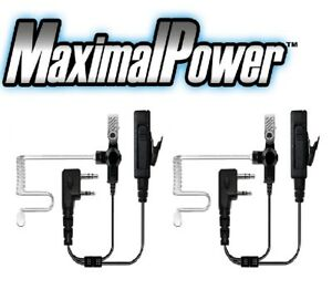 2x-MaximalPower-Surveillance-Headset-Earpiece-PTT-Mic-for-KENWOOD-2-Way-Radio