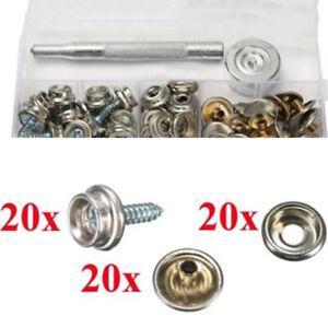 62pcs-Automatico-Kit-Acciaio-Inox-Tela-per-Vite-Bottone-a-Pressione-Auto-Hoods