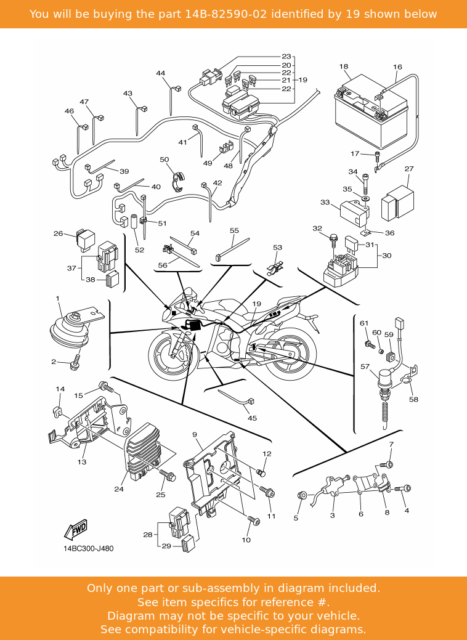 2009 Yamaha Yzf R1 Main Wiring Harness, Yamaha R1 Wiring Diagram