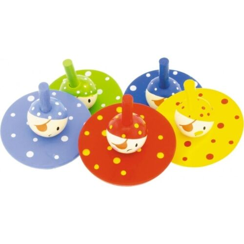 Spinning top wooden clown-games and wooden toys-tops child
