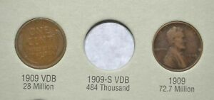 1909-1940-Lincoln-Wheat-Cent-STARTER-COLLECTION-with-1909-amp-1909-VDB-New-Album