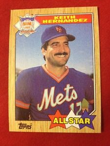 Details About Keith Hernandez Baseball Card 595 1987 Topps Rare Perfect Condition All Star