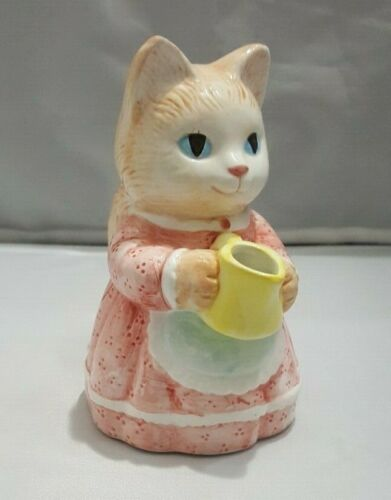 Avon-1991-Cat Porcelain Figurine Creamer*Pre-Owned*Free Shipping!