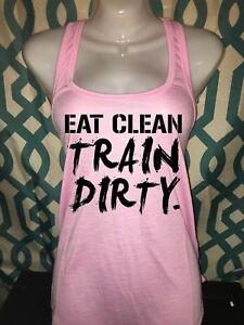 Fitness Workout Racerback Tank Shirt Gym Fitness Ladies Girl Lift Beast S M L X