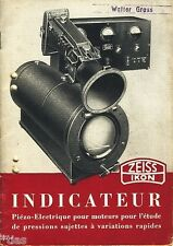 Zeiss Ikon AG Dresden Prospekt Indicateur Piézo Electrique 1937 französisch