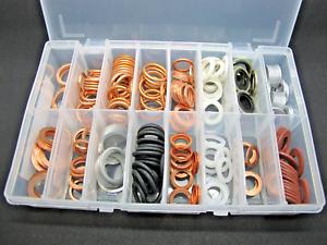 Sump-Washers-Assorted-Box-Aluminium-Copper-Fibre-Plug-QTY-220-AT79