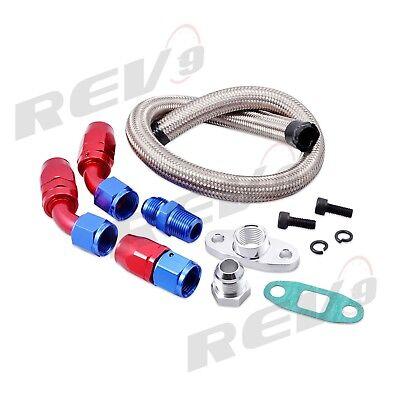Turbo Oil Drain Return Line Kit+10AN Fitting//Adapter Turbocharger T3//T4 GT45 T04