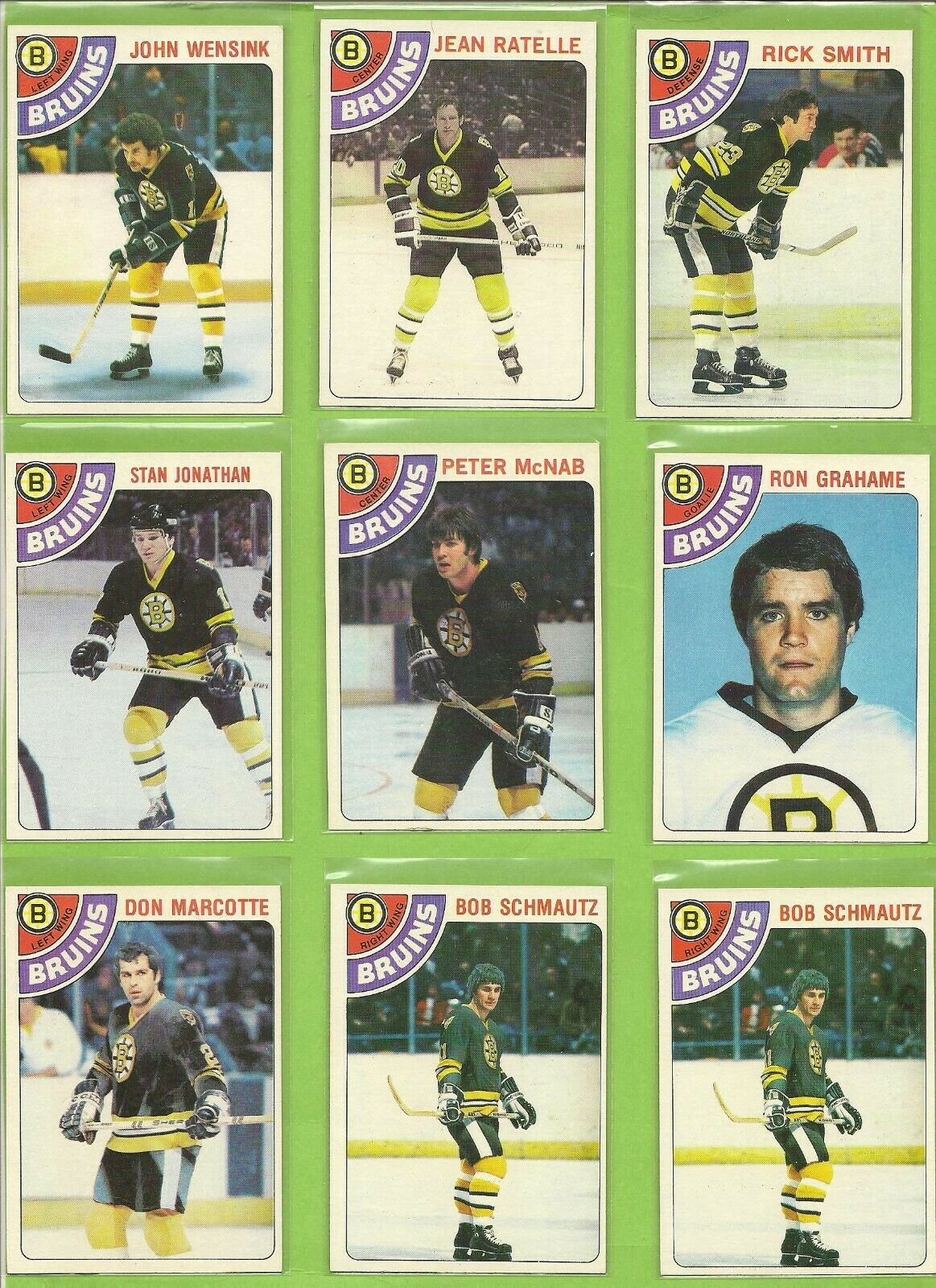 Boston Bruins Assorted Hockey Cards 10 Card Lot