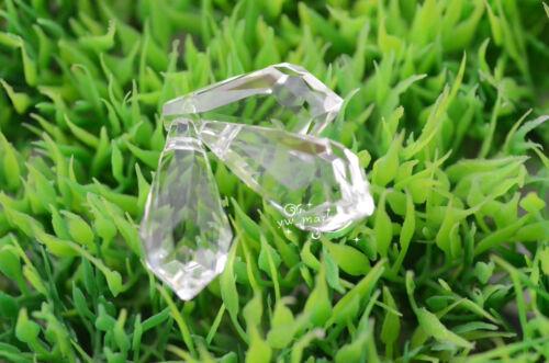 100 pcs clear glass tear drop chandelier lamp parts hang 22mm