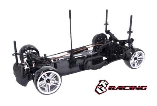 KIT-D4AWDS//BK 3RACING Sakura D4 Sport Black Edition 1//10 Drift Car Kit AWD