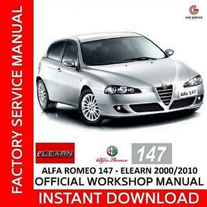 Alfa Romeo 147 Elearn Manuale Officina Workshop Manual Service Wiring Diagrams Ebay