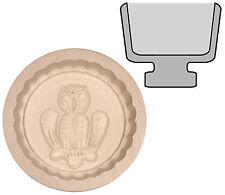 Butterform rund Buttermodel aus Ahornholz für 15 g Butter  Motiv: Eule