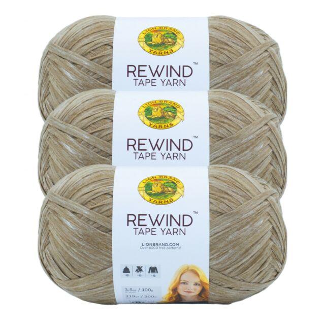 Lion Brand Yarn 523-124 Rewind Yarn, Willow (Pack of 3 Skeins)