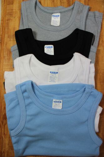 4 Baby BOY mix color tank top undergarment sleeveless T-shirt baby shower 1-3 yr