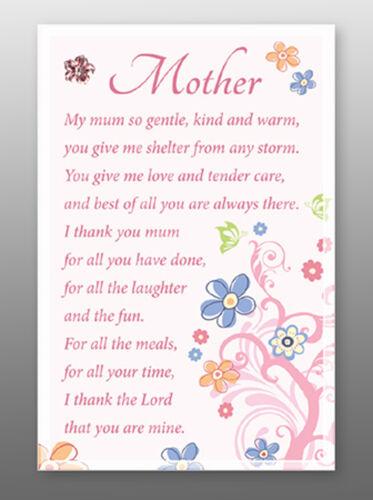 Mère Verre Plaque Maman-sentiments gamme de produits-religieuse cadeau