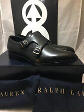 Polo Ralph Lauren Monk Strap Gavrie Soft Calf Shoe Size 9 New Black Purple Label