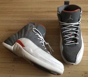 d1bb416b551b Nike Air Jordan 2012 Retro 12 Cool Grey Orange 130690-012 Mens SZ US ...
