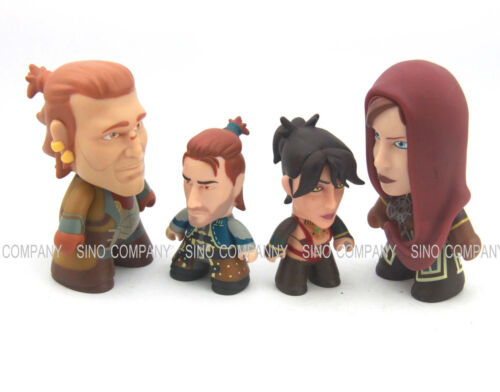 4x Dragon Age The Heroes of Thedas TITANS figures Varric Andres leliana Morrigan
