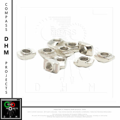 10 x Dadi di post-montaggio Serie 5 filetto M5 profilo alluminio CNC