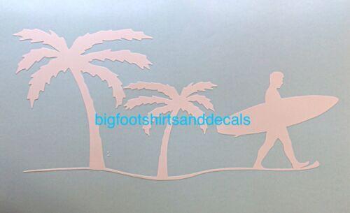 Surfing Decal Wave RipCurl Surfboard Hawaii Beach Sand Car Truck Window Sticker