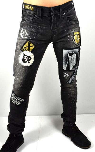 85710e3fb True Religion  279 Men s Rocco Skinny Logo Patch Jeans - MJ60NZR3 Size 40x34