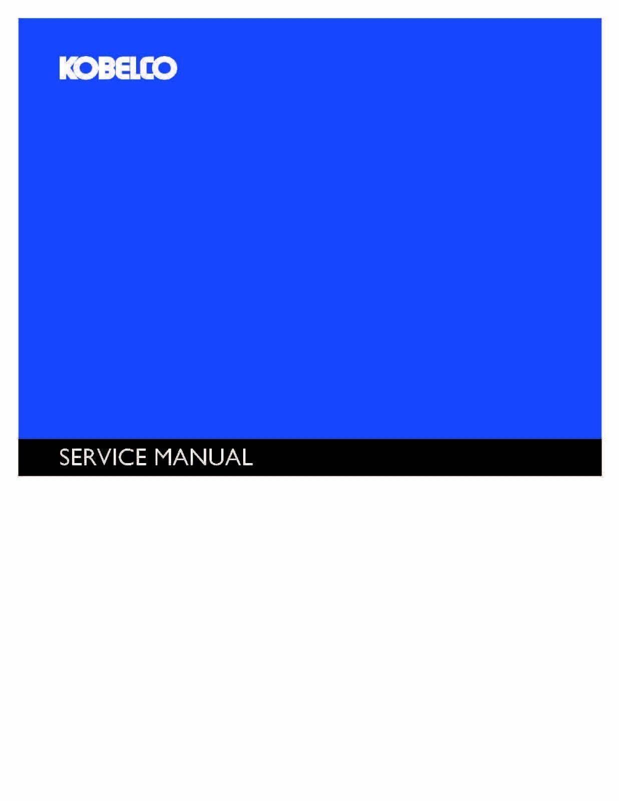 KOBELCO SK150LCIV Excavator Service Manual Repair Technical Shop Book
